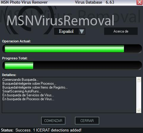 Remover virus del MSN messenger