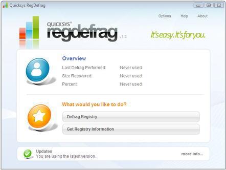 quicksys regdefrag - desfragmentar registro de windows