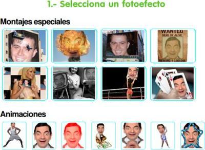 Efectos en tus fotos con Fotoefectos.com