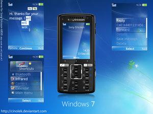 Tema para Sony Ericsson de Windows Seven