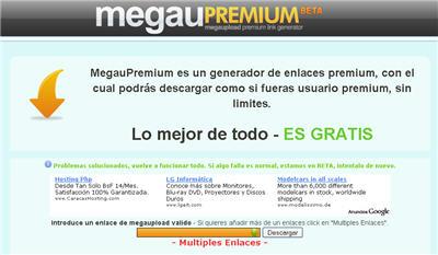 Generar enlaces premium de Megaupload