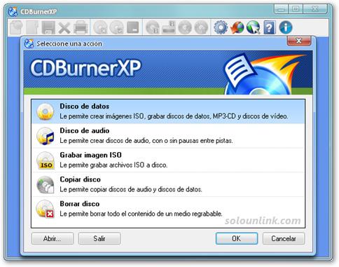 Grabar CDs y DVDs con CDBurnerXP Pro