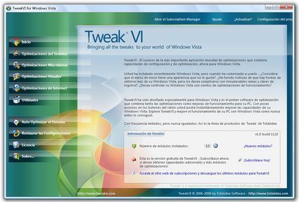 Mejorar el rendimiento de Windows Vista con TweakVI