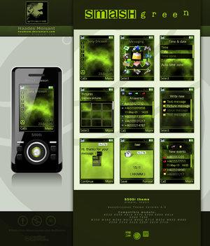 Tema SMASH Green para Sony Ericsson