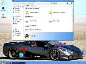 Windows xp con apariencia de Chrome