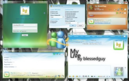 skin gratis para messenger 2009 - my live