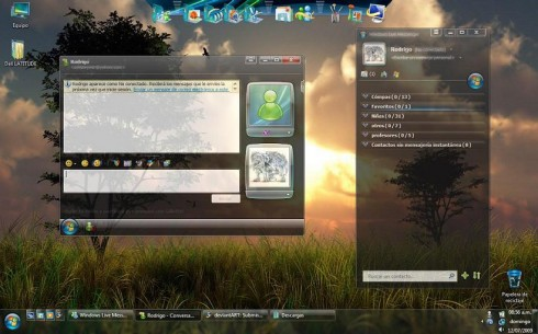 Tema para Messenger Windows Aero Messenger