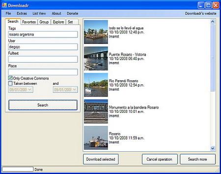 downloadr descargar fotos de flickr