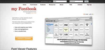 myfontbook visualizar fuentes de la computadora