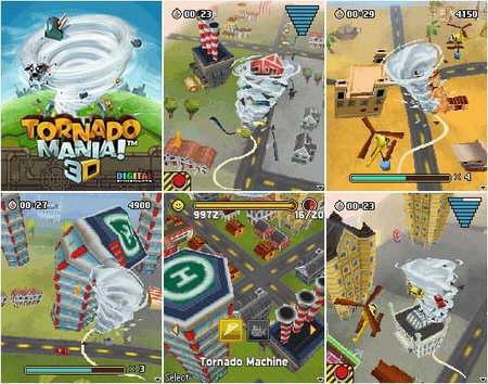 tornado mania3d juego celulares