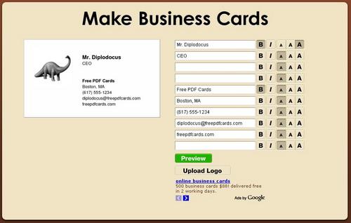 tarjetas presentacion gratis