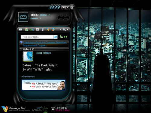 batman the dark knight skin messenger