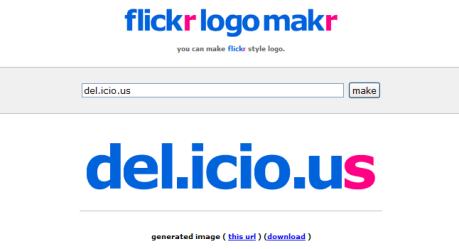 generador de logos online - flickr nosv