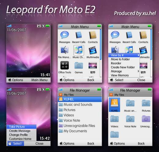 Tema de Leopard para Motorola E2