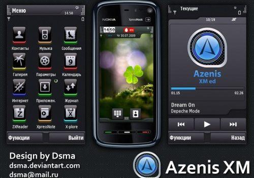 Preview del tema para Nokia 5800 Azenis XM