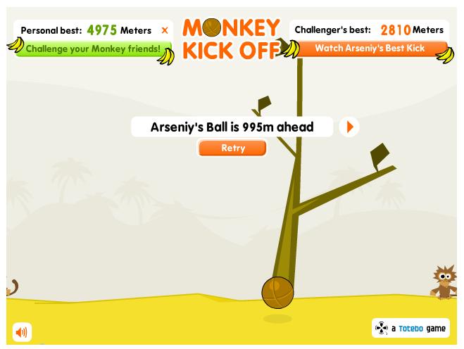 Juego en flash monkey kick off