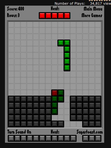 Tetris and snake game