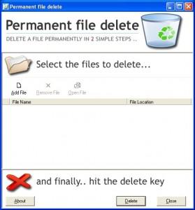 borrar archivos permanentemente