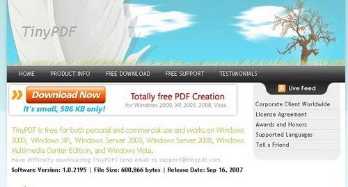 tinypdf crear pdf gratis
