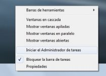 iniciar barra tareas windows 7