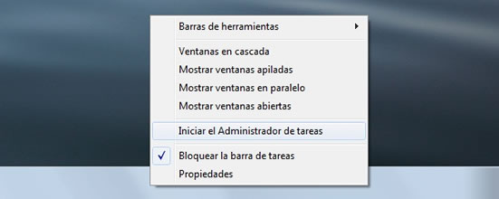 iniciar barra tareas windows 7