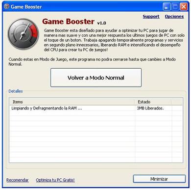 liberar memoria para juegos