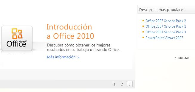 descargar service pack 2 office