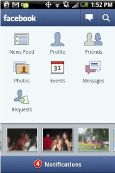 Facebook 1.3 for android