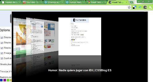 Visual Tab extensions Google Chrome