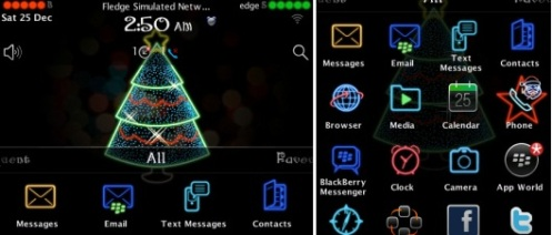 BB themes Animated Neon Christmas