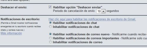Notificaciones Gmail