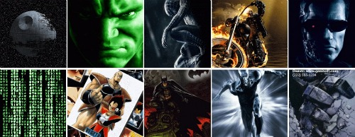 fondos animados superheroes