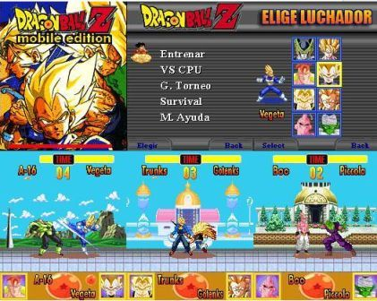 Descarga juego de Dragon Ball Z Mobile Edition gratis