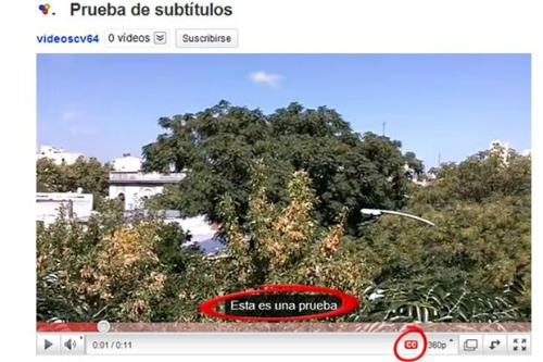 Cómo poner subtítulos en youtube