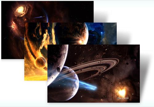 Tema de universo para Windows 7