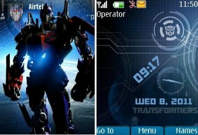 Tema de transformers para celulares