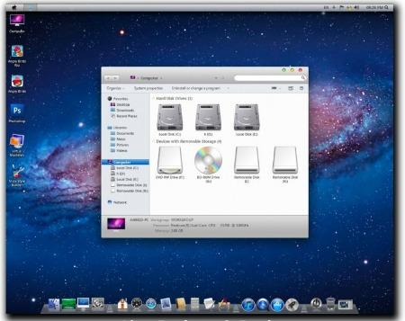 Haz que Windows 7 tenga el aspecto de OS X Lion