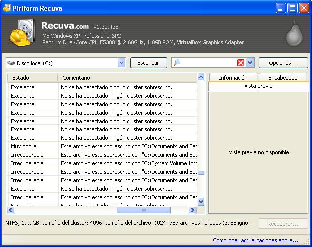 archivos borrados recupera