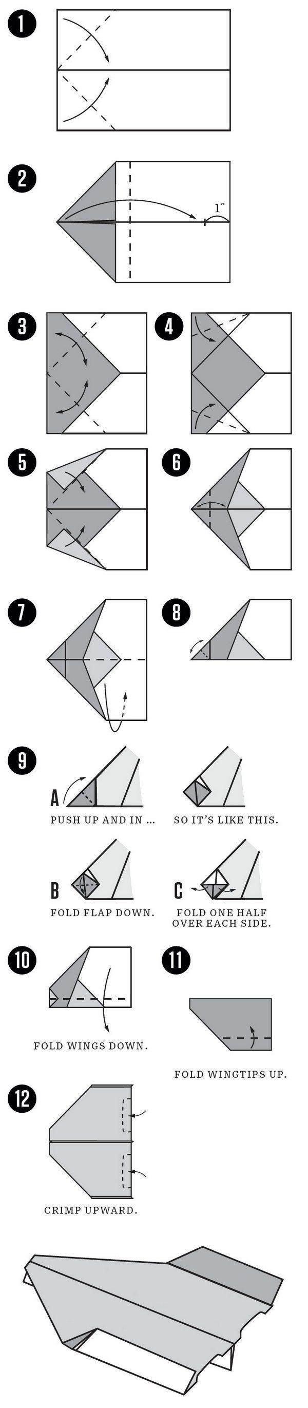 como hacer avion de papel