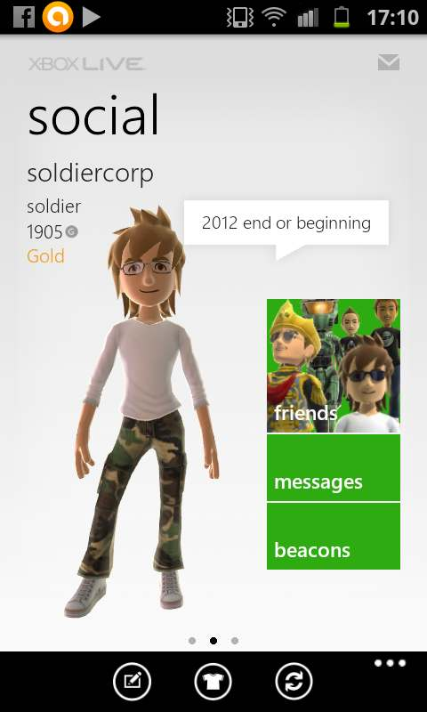 My Xbox Live Galaxy S2