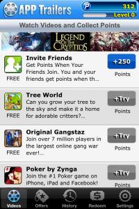 Videos en App trailers