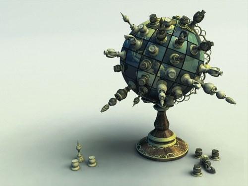 Globo ajedrez