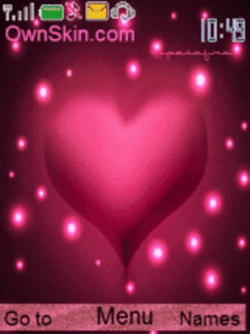 corazon rosa tema