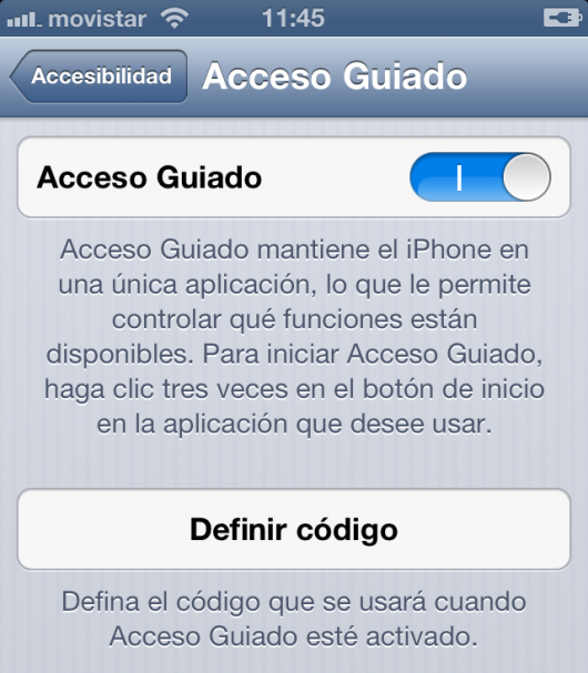 Acceso Guiado iOS