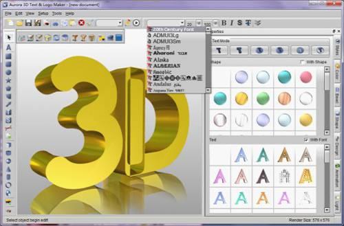 Aurora 3D Text & Logo Maker: Crear texto en 3D y el logotipo de 3D
