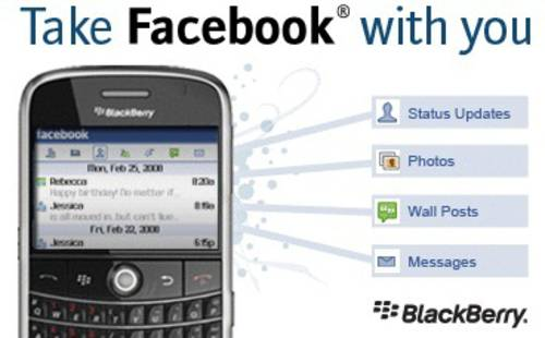 BlackBerry desde Facebook