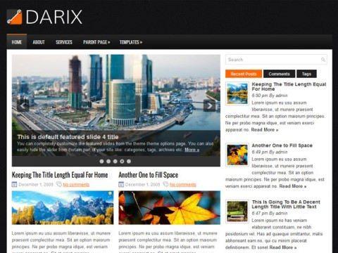 Darix: Tema gratis para blog estilo magazine