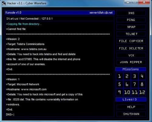 Hacker Cyber Warfare: Juega a ser hacker y entra en sistemas remotos