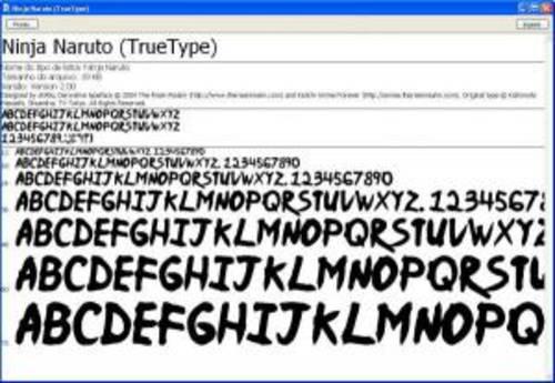 Ninja Naruto Fonte: Un font a al estilo de naruto