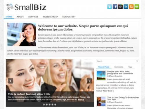 Smallbiz: Tema para blog en WordPress para negocios